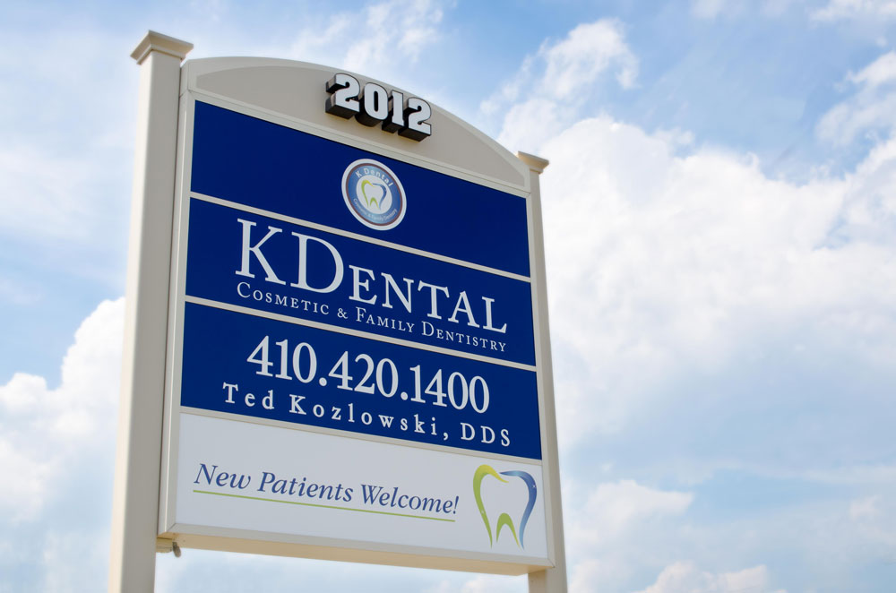 K Dental Outside Signage